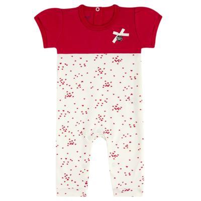 Imagem 1 do produto Macacão curto para bebe em suedine Love Puppy - Vicky Baby - 2152-4253 MACACAO MC MG CURTA REC. DOGS-G