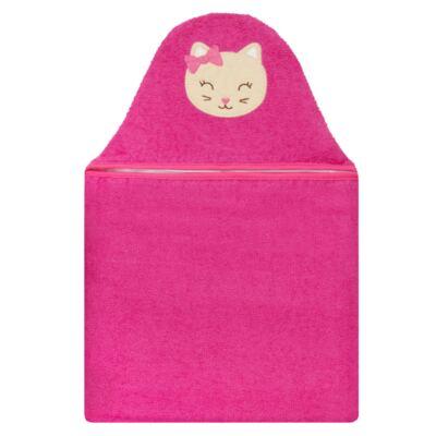Imagem 1 do produto Toalha com capuz para bebe Gatinha Pink - Pingo Lelê