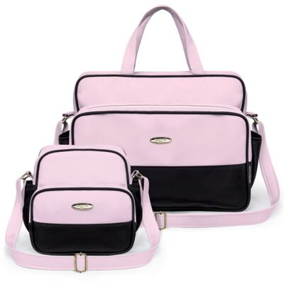 Imagem 1 do produto Kit Bolsa maternidade para bebe + Frasqueira Preto/Rosa Unique - Classic for Baby Bags