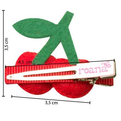 Imagem 3 do produto Presilha em feltro Cerejinhas - Roana
