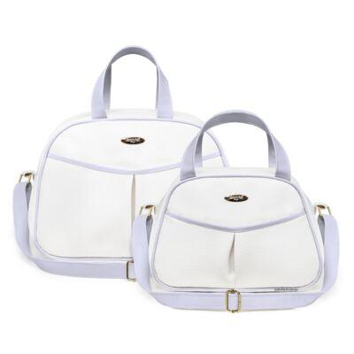 Imagem 1 do produto Kit Bolsa maternidade para bebe + Frasqueira Branco/Azul Unique - Classic for Baby Bags