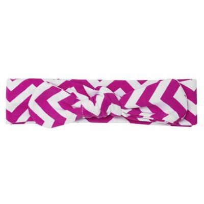 Imagem 3 do produto Legging c/ Faixa de cabelo para bebe em lycra Chevron Pink - Letiti - LTT03 LEGGING FAIXA LUMA PINK-M