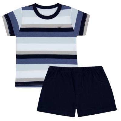 Imagem 1 do produto Camiseta com Shorts em algodão egípcio Ailu - Grow Up - 05010090.0003 CONJUNTO FLY AZUL-3