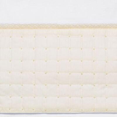 Imagem 3 do produto Jogo de lençol para berço em malha Matelassê & Pérolas Marfim - Roana