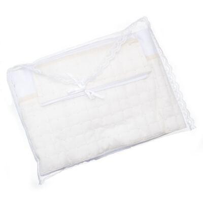 Imagem 4 do produto Jogo de lençol para berço em malha Matelassê & Pérolas Marfim - Roana
