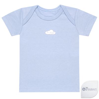 Imagem 1 do produto Camiseta manga curta em suedine Baby Protect Azul - Mini & Kids - CMTC1735 CAMISETA TRANSP. MC SUEDINE AZUL-GG