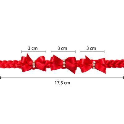Imagem 3 do produto Faixa de cabelo trançada Lacinhos & Strass Vermelha - Roana
