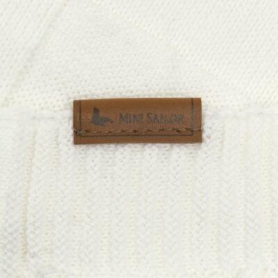 Imagem 3 do produto Manta para bebe em tricot Mosaic Branca - Mini Sailor