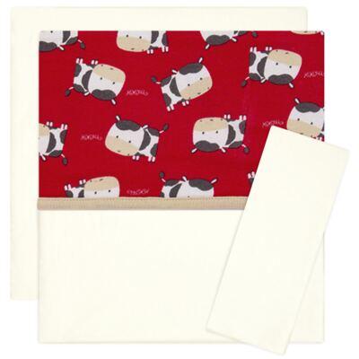 Imagem 1 do produto Jogo de lençol para carrinho em malha Vaquinhas - Classic for Baby
