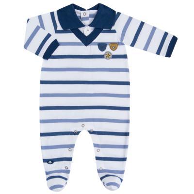 Imagem 1 do produto Macacão polo gola V para bebe em malha Flying Club - Baby Classic