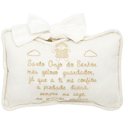 Imagem 1 do produto Almofada Santo Anjo em fustão Marfim - Classic for Baby