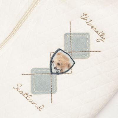 Imagem 3 do produto Saco de dormir para bebe em suedine matelassado Argyle Bear - Baby Classic