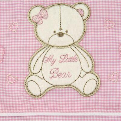 Imagem 2 do produto Jogo de lençol para carrinho em malha Ursinha Xadrez