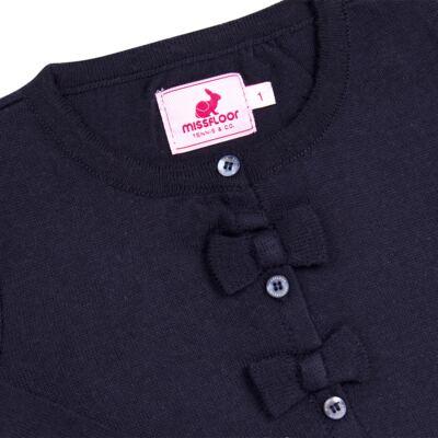 Imagem 2 do produto Cardigan em tricot Lacinhos Marinho - Missfloor