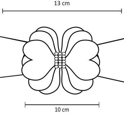 Imagem 2 do produto Faixa meia Maxi Flor Pérolas Vermelha - Roana