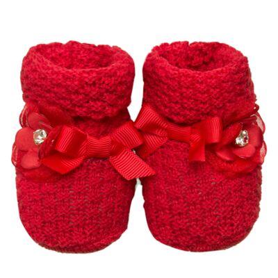 Imagem 1 do produto Botinha em tricot Laço & Flor Vermelho - Roana