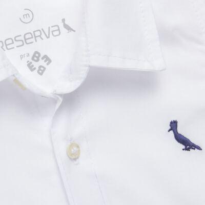 Imagem 2 do produto Camisa para bebe em chambray Branca - Reserva Mini - RM23161 CAMISA BB CHAMBRAY COLOR-G