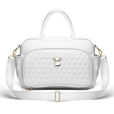 Imagem 1 do produto Bolsa maternidade para bebe Veneza Golden Koala Branca - Classic for Baby Bags