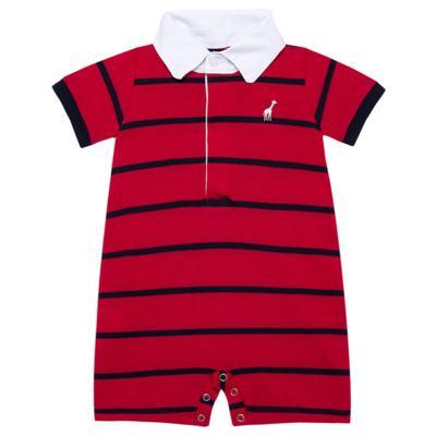 Imagem 1 do produto Macacão Polo para bebe em piquet Vermelho/Marinho - Toffee - 1370T1422 MACACAO M/C PIQUET PIQUET VERMELHO-0-3