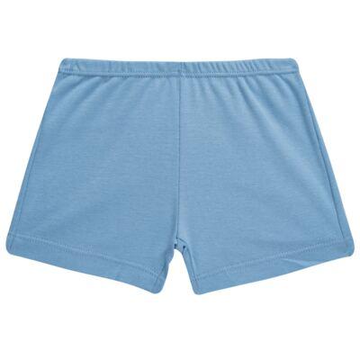 Imagem 4 do produto Pijama curto para bebe em suedine Dino - Dedeka - DDK17123/L44 Pijama Ribana Azul Sereno-P