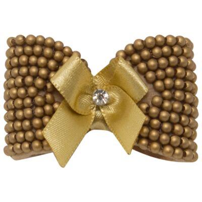 Imagem 1 do produto Presilha Laço mini pérolas Dourada - Roana