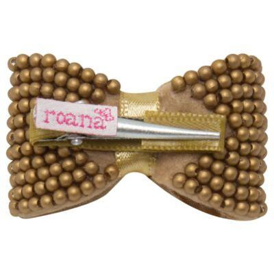 Imagem 2 do produto Presilha Laço mini pérolas Dourada - Roana