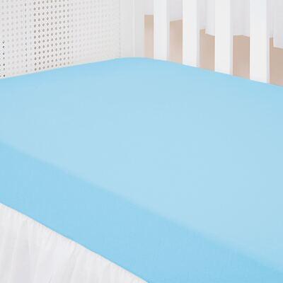 Imagem 3 do produto Kit: 2 Lençóis de baixo para berço em malha Marfim/Azul - Biramar Baby