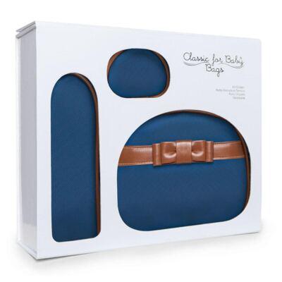 Imagem 2 do produto Kit Acessórios para bebe Laço Caramel Marinho - Classic for Baby Bags