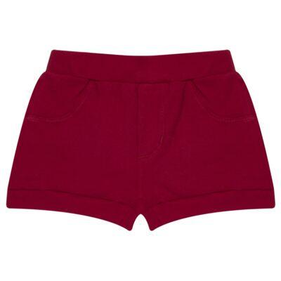 Imagem 5 do produto Body curto com Shorts para bebe em algodão egípcio c/ jato de cerâmica e filtro solar fps 50 Moranguinhos - Mini & Kids - BBI1745 CONJ BODY M/C C/ SHORTS SUEDINE MORANGOS-GG
