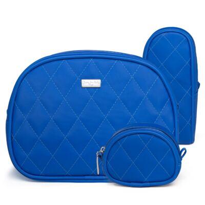 Imagem 1 do produto Kit Acessórios para bebe: 01 Necessaire + 01 Porta Chupeta + 01 Porta Mamadeira Colors Klein - Classic for Baby Bags