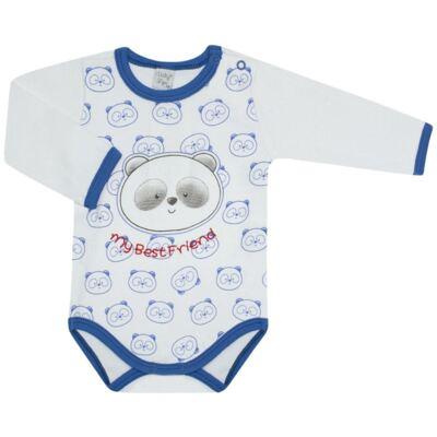 Imagem 1 do produto Body longo para bebe em suedine Urso Panda - VickyLipe - BL248 BODY ML SUEDINE URSO PANDA-G