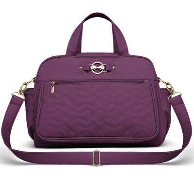 Imagem 1 do produto Bolsa maternidade para bebe Liverpool Laços Matelassê Uva - Classic for Baby Bags