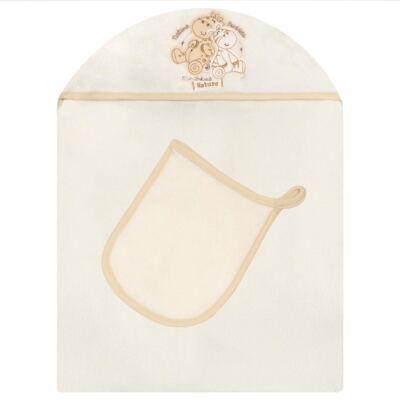 Imagem 1 do produto Toalha com capuz + Luva Nature Zoo Friends - Classic for Baby