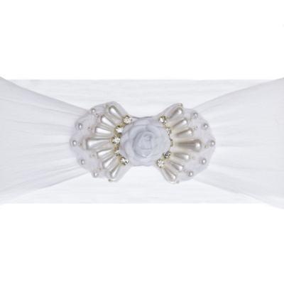 Imagem 1 do produto Faixa meia Laço Branco - Roana