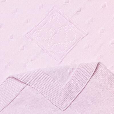 Imagem 2 do produto Manta para bebe em tricot Le Petite Rosa - Baby Classic