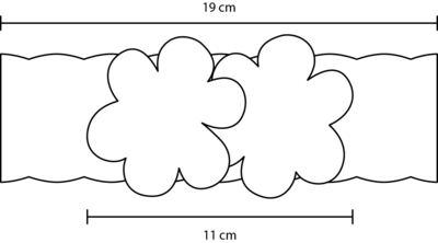 Imagem 3 do produto Faixa renda Flores Pérolas & Strass Bordô - Roana