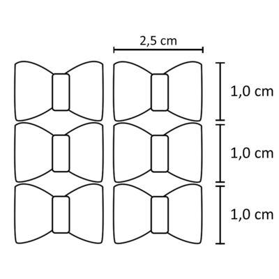 Imagem 2 do produto Kit: 6 laços c/ velcro Prata/Dourado - Roana