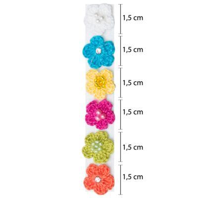 Imagem 2 do produto Kit 6 Flores adesivas Tricot Colors - Roana