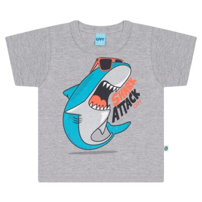 Imagem 2 do produto Camiseta mescla com Bermuda tactel Tutubarão - Livy