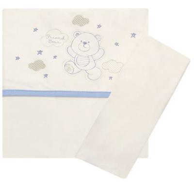 Imagem 1 do produto Jogo de lençol para carrinho em malha Ursinho - Classic for Baby