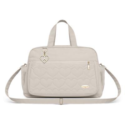 Imagem 2 do produto Bolsa + Frasqueira para Bebê Hearts Marfim - Classic for Baby Bags
