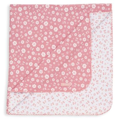 Imagem 1 do produto Manta para bebe em suedine Florzinhas - Dedeka