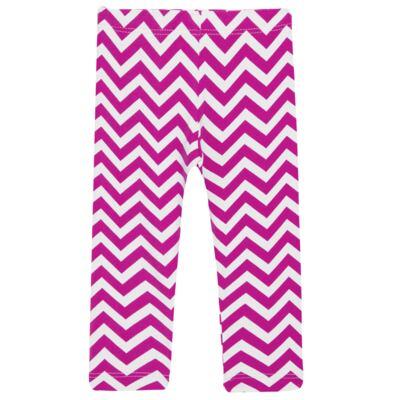 Imagem 2 do produto Legging c/ Faixa de cabelo para bebe em lycra Chevron Pink - Letiti - LTT03 LEGGING FAIXA LUMA PINK-G