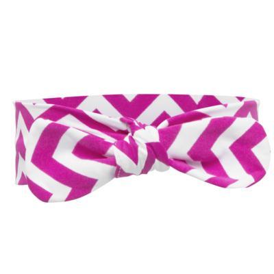 Imagem 4 do produto Legging c/ Faixa de cabelo para bebe em lycra Chevron Pink - Letiti - LTT03 LEGGING FAIXA LUMA PINK-G