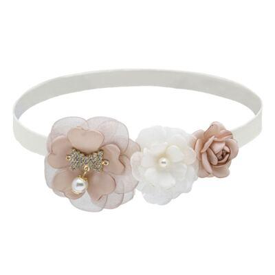 Imagem 1 do produto Faixa Flores Marfim/Rosê - Roana
