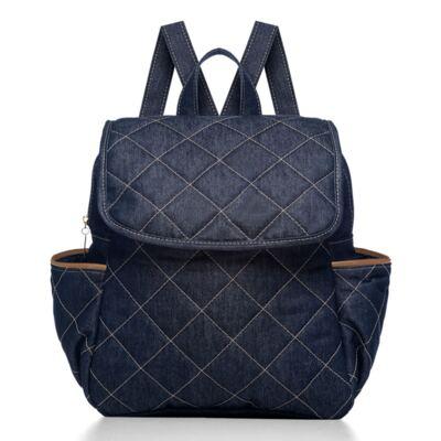 Imagem 1 do produto Mochila maternidade Classic Golden Denim Camurça - Classic for Baby Bags