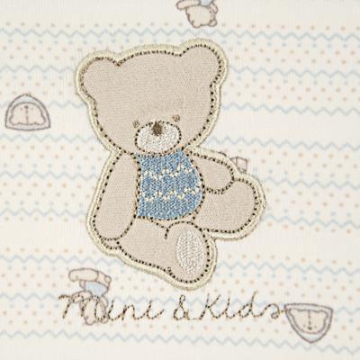 Imagem 2 do produto Jogo de lençol para carrinho em malha Cute Blue Bear - Classic for Baby
