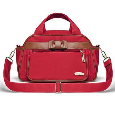 Imagem 1 do produto Bolsa maternidade para bebe Oxford Laço Caramel Vermelha - Classic for Baby Bags