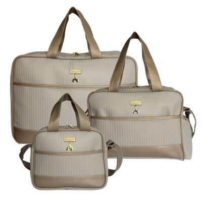 Imagem 1 do produto Mala maternidade + Bolsa Lois + Jess Ouro Velho Kingdom - Masterbag