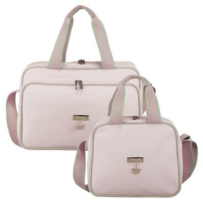 Imagem 1 do produto Bolsa + Frasqueira para bebe Clean Collection Rosa - Masterbag